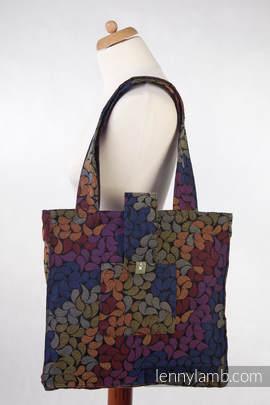 Shoulder bag made of wrap fabric (100% cotton) - COLORS OF MAGIC - standard size 37cmx37cm (grade B)
