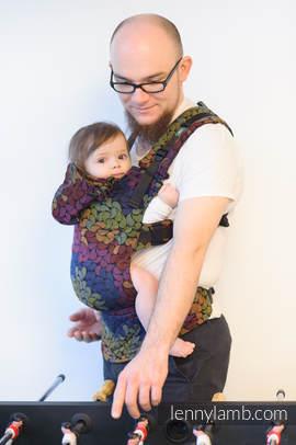 Nosidełko Ergonomiczne z tkaniny żakardowej 100% bawełna , Toddler Size, KOLORY MAGII - Druga Generacja