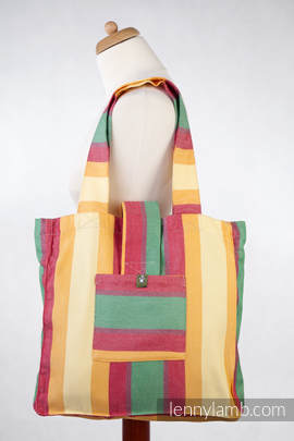 Shoulder bag made of wrap fabric (60% cotton, 40% bamboo) - SPRING - standard size 37cmx37cm