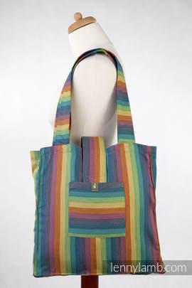 Torba na ramię z materiału chustowego, (60% bawełna, 40% bambus)- TANGATA - uniwersalny rozmiar 37cmx37cm