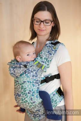 Nosidełko Ergonomiczne z tkaniny żakardowej 100% bawełna , Toddler Size, KOLORY NIEBA - Druga Generacja