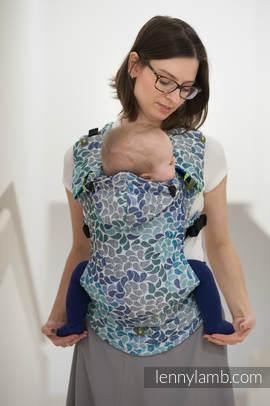 Nosidełko Ergonomiczne z tkaniny żakardowej 100% bawełna , Baby Size, KOLORY NIEBA - Druga Generacja