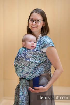 Baby Wrap, Jacquard Weave (100% cotton) - COLORS OF HEAVEN - size XS