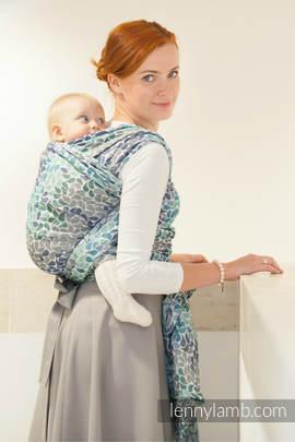 Baby Wrap, Jacquard Weave (100% cotton) - COLORS OF HEAVEN - size L