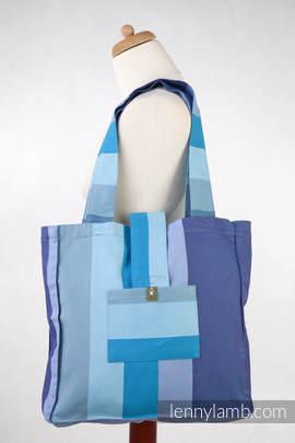 Torba na ramię z materiału chustowego, (100% bawełna) - FIŃSKI DIAMENT- uniwersalny rozmiar 37cmx37cm (drugi gatunek)