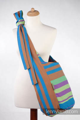 Hobo Bag made of woven fabric, 100% cotton - ZUMBA BLUE (grade B)