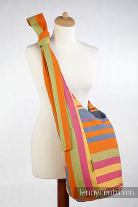 Hobo Bag made of woven fabric, 100% cotton - ZUMBA ORANGE (grade B)