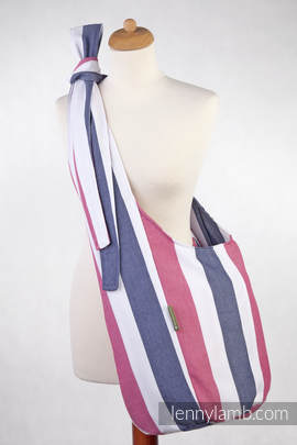 Hobo Bag made of woven fabric 60 % cotton 40 % bamboo - MARINA