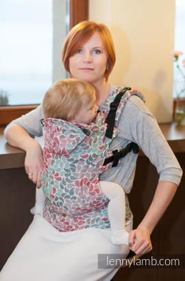 Nosidełko Ergonomiczne z tkaniny żakardowej 100% bawełna , Toddler Size, KOLORY PRZYJAŹNI - Druga Generacja