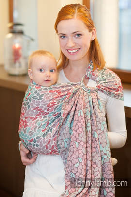 Ringsling, Jacquard Weave (100% cotton) - with gathered shoulder - COLORS OF FRIENDSHIP