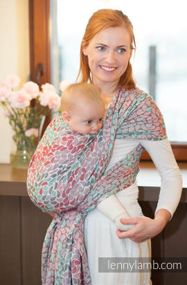 Baby Wrap, Jacquard Weave (100% cotton) - COLORS OF FRIENDSHIP - size L