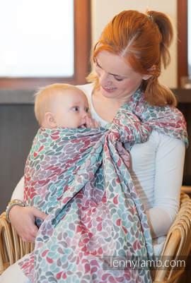 Baby Wrap, Jacquard Weave (100% cotton) - COLORS OF FRIENDSHIP - size L (grade B)