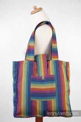 Torba na ramię z materiału chustowego, (100% bawełna) - PARADISO BAWEŁNA - uniwersalny rozmiar 37cmx37cm