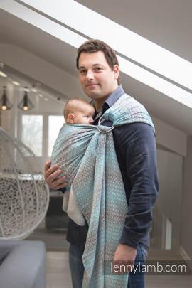 Ringsling, Jacquard Weave (100% cotton) - LITTLE LOVE - BREEZE