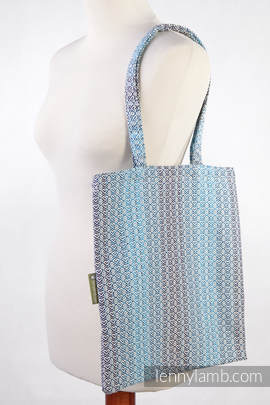 Shopping bag made of wrap fabric (100% cotton) - LITTLE LOVE - BREEZE