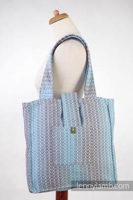 Torba na ramię z materiału chustowego, (100% bawełna) - LITTLE LOVE - BRYZA - uniwersalny rozmiar 37cmx37cm