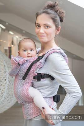 Nosidełko Ergonomiczne z tkaniny żakardowej 100% bawełna , Baby Size, LITTLE LOVE - MGIEŁKA, Druga Generacja