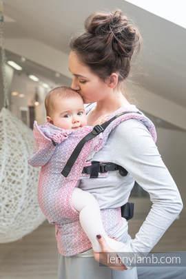 Nosidełko Ergonomiczne z tkaniny żakardowej 100% bawełna , Toddler Size, LITTLE LOVE - MGIEŁKA, Druga Generacja