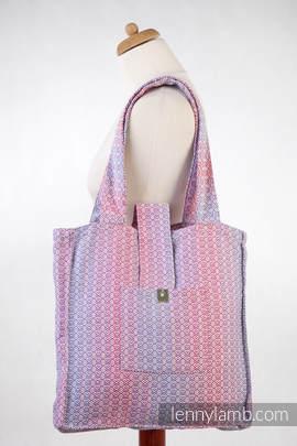 Torba na ramię z materiału chustowego, (100% bawełna) - LITTLE LOVE - MGIEŁKA - uniwersalny rozmiar 37cmx37cm