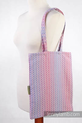 Shopping bag made of wrap fabric (100% cotton) - LITTLE LOVE - HAZE