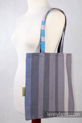 Shopping bag made of wrap fabric (100% cotton) - MISTY MORNINNG