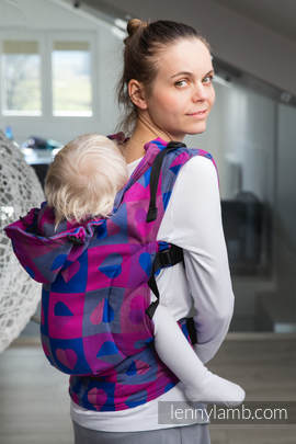 Ergonomic Carrier, Toddler Size, jacquard weave 100% cotton - wrap conversion from HEARTBEAT - CHLOE, Second Generation (grade B)