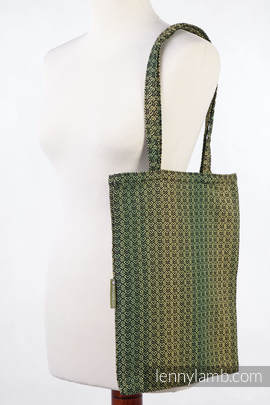 Shopping bag made of wrap fabric (100% cotton) - LITTLE LOVE - LEMON TREE