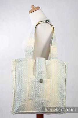 Torba na ramię z materiału chustowego, (100% bawełna) - LITTLE LOVE - ZŁOTY TULIPAN - uniwersalny rozmiar 37cmx37cm