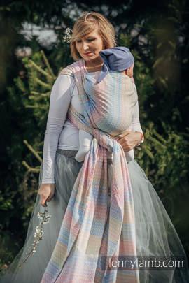 Baby Wrap, Jacquard Weave (60% combed cotton, 28% Merino wool, 8% silk, 4% cashmere) - LITTLE LOVE - DAZZLE - size S