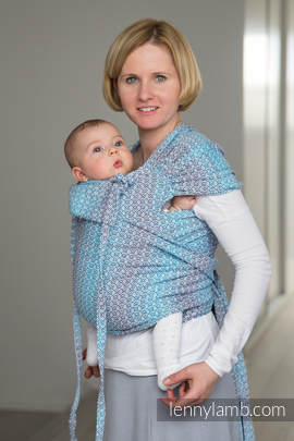 WRAP-TAI carrier Mini with hood/ jacquard twill / 100% cotton / LITTLE LOVE - BREEZE