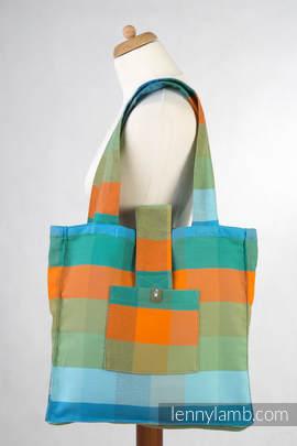 Torba na ramię z materiału chustowego, (100% bawełna) - DRZEWO POMARAŃCZOWE - uniwersalny rozmiar 37cmx37cm