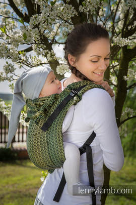 Lenny Buckle Onbuhimo, standard size, jacquard weave (100% cotton) - Wrap conversion from LITTLE LOVE LEMON TREE