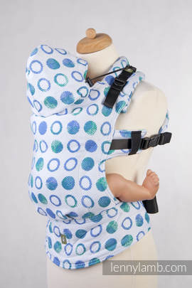 Ergonomic Carrier, Toddler Size, jacquard weave 100% cotton - wrap conversion from MOTHER EARTH Reverse - Second Generation