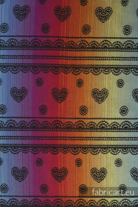 RAINBOW LACE DARK, jacquard weave fabric, 100% cotton, width 140cm, weight 280 g/m²