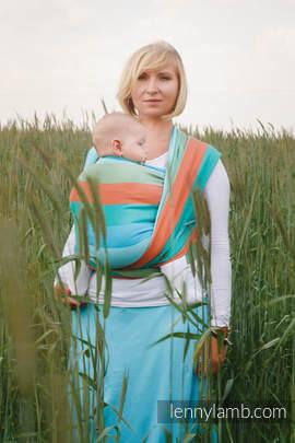 Baby Wrap, Herringbone Weave (100% cotton) - LITTLE HERRINGBONE SUNFLOWER - size L