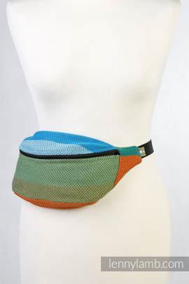 Waist Bag made of woven fabric, (100% cotton) - LITTLE HERRINGBONE LANTANA