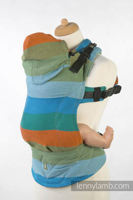 Nosidełko Ergonomiczne , splot jodełkowy, 100% bawełna, Toddler Size, MAŁA JODEŁKA LANTANA - Druga Generacja