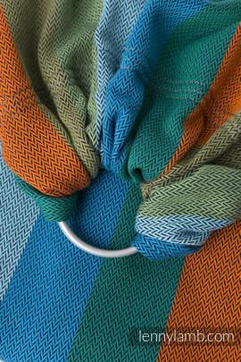 Ringsling, Herringbone Weave (100% cotton) - with gathered shoulder - LITTLE HERRINGBONE LANTANA