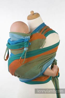 WRAP-TAI carrier Toddler with hood/ herringbone twill / 100% cotton / LITTLE HERRINGBONE LANTANA