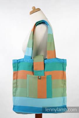 Torba na ramię z materiału chustowego, (100% bawełna) - MAŁA JODEŁKA SŁONECZNIK - uniwersalny rozmiar 37cmx37cm