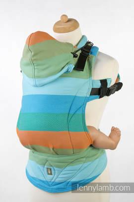 Nosidełko Ergonomiczne , splot jodełkowy, 100% bawełna , Toddler Size, MAŁA JODEŁKA SŁONECZNIK - Druga Generacja