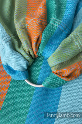 Ringsling, Herringbone Weave (100% cotton) - with gathered shoulder - LITTLE HERRINGBONE SUNFLOWER