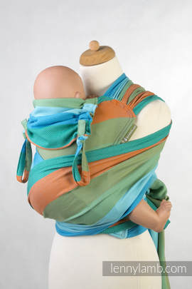 WRAP-TAI carrier Toddler with hood/ herringbone twill / 100% cotton / LITTLE HERRINGBONE SUNFLOWER