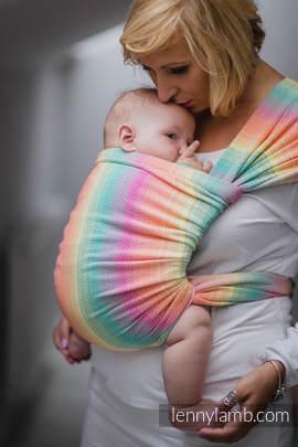 Baby Wrap, Herringbone Weave (100% cotton) - LITTLE HERRINGBONE IMAGINATION - size L