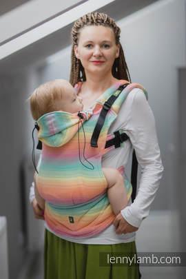 Nosidełko Ergonomiczne , splot jodełkowy, 100% bawełna , Baby Size, MAŁA JODEŁKA WYOBRAŹNIA - Druga Generacja