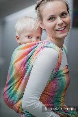 Baby Wrap, Herringbone Weave (100% cotton) - LITTLE HERRINGBONE IMAGINATION - size XL