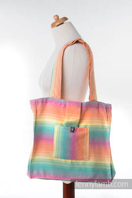 Shoulder bag made of wrap fabric (100% cotton) - LITTLE HERRINGBONE IMAGINATION - standard size 37cmx37cm