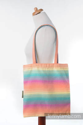 Shopping bag made of wrap fabric (100% cotton) - LITTLE HERRINGBONE IMAGINATION