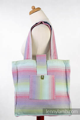 Shoulder bag made of wrap fabric (100% cotton) - LITTLE HERRINGBONE IMPRESSION - standard size 37cmx37cm