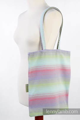 Shopping bag made of wrap fabric (100% cotton) - LITTLE HERRINGBONE IMPRESSION